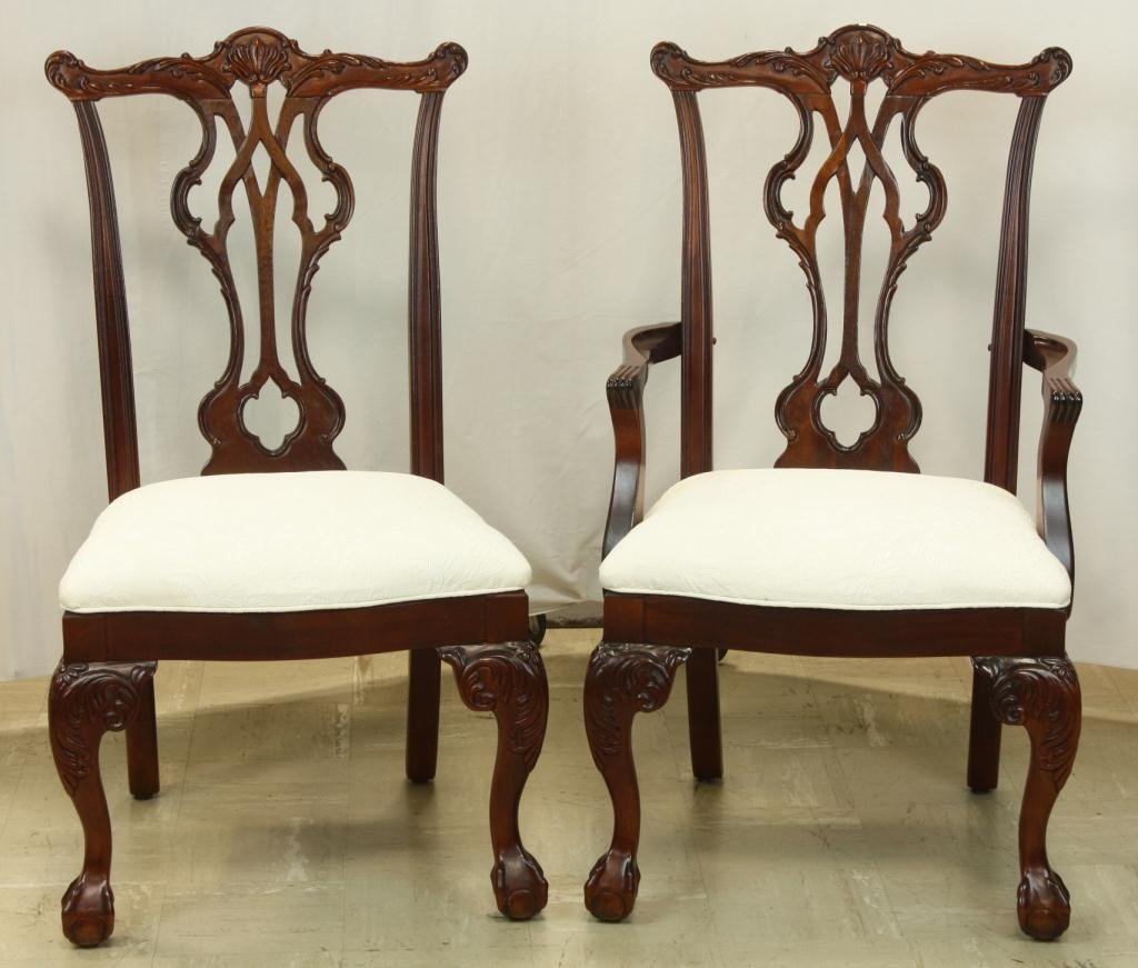 78: THOMASVILLE Chippendale Style Dining Chairs - 2