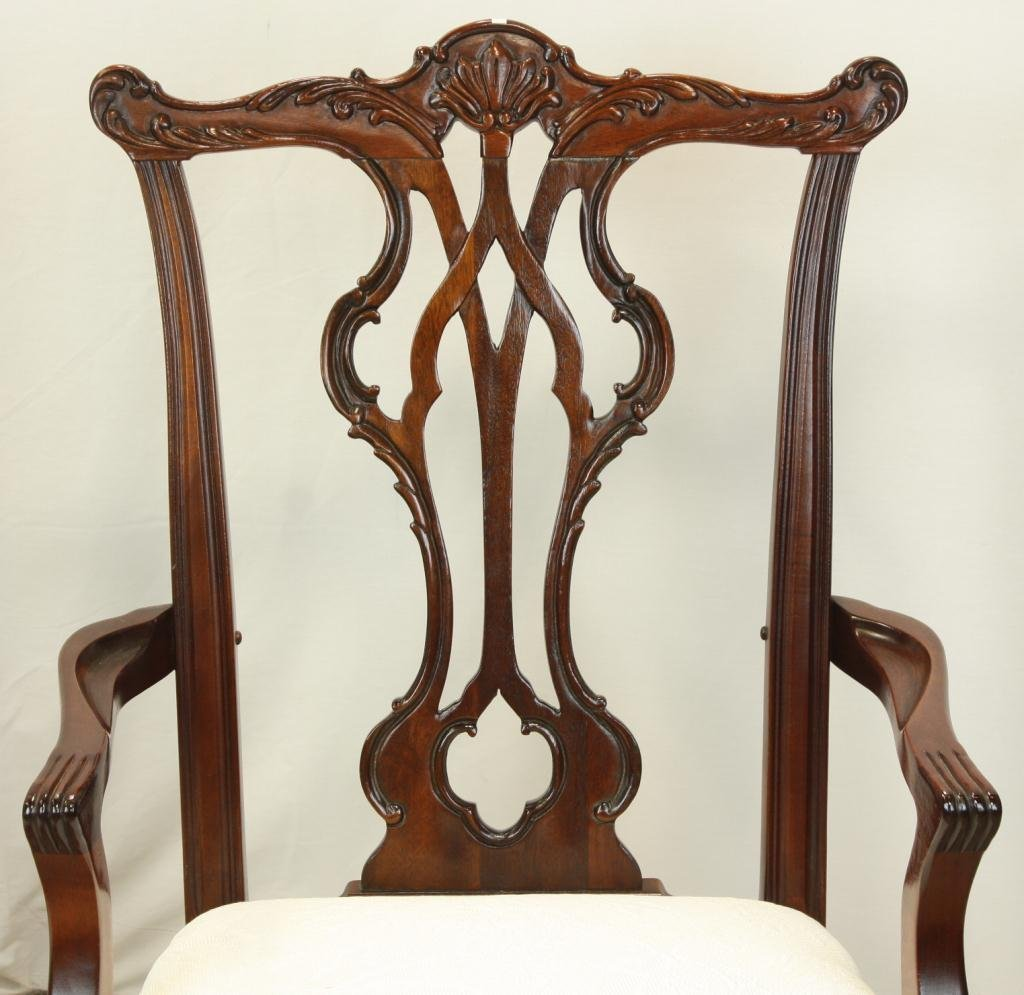 78: THOMASVILLE Chippendale Style Dining Chairs - 4