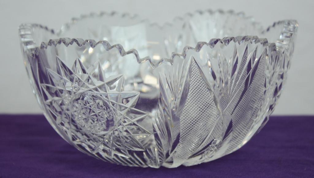 1: Cut Glass Bowl