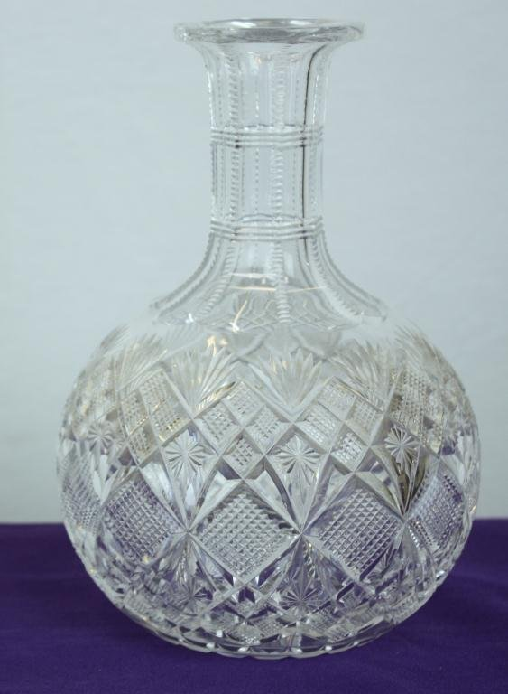 2: Collection of Fine Cut Glass Water Jugs (5)