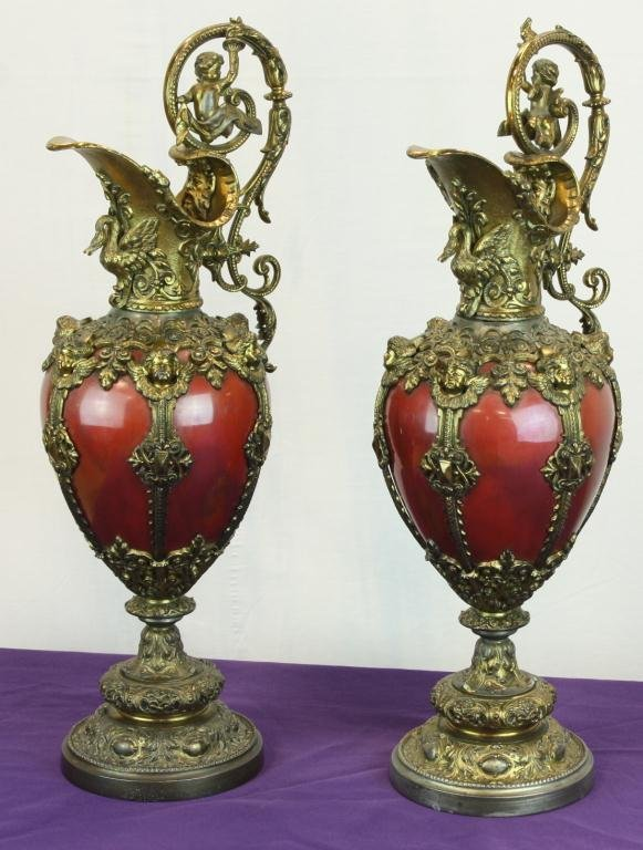 10: Pair of Early Bolted Ewers