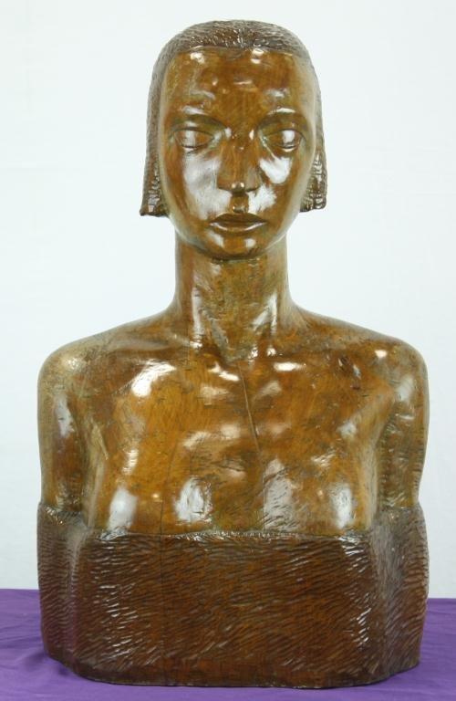 15: Folk Art Wooden Bust