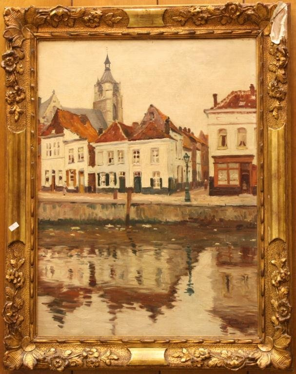 11: Oil on Canvas by René De Baugnies, 1869-1962