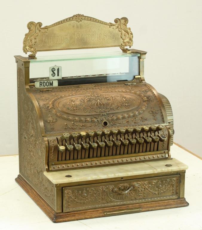 14: Ornate National Cash Register model 349