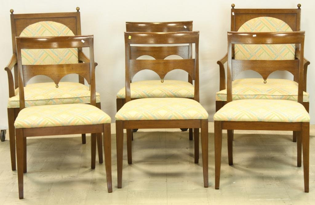 17: HERITAGE Mid Century Dining Chairs (6)