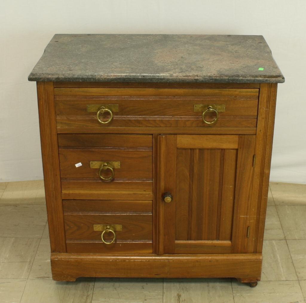 28: Walnut Marble Top Washstand