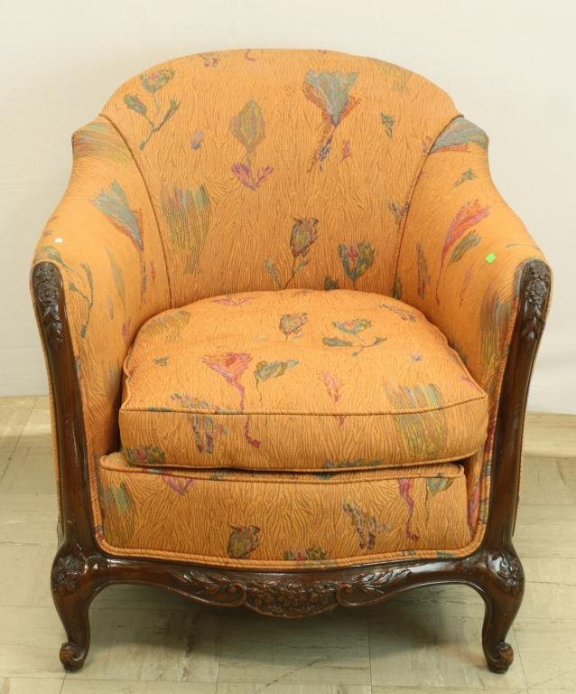 32: Carved Formal Provincial Occasional Chair