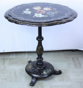Early Paper Mache Tea Table