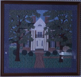 Framed Quilted Picture of Home