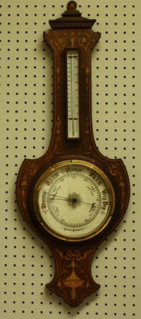 Early Barometer with Thermometer