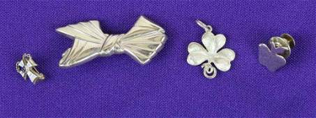 Collection of Marked 14K Gold Charms and Pins