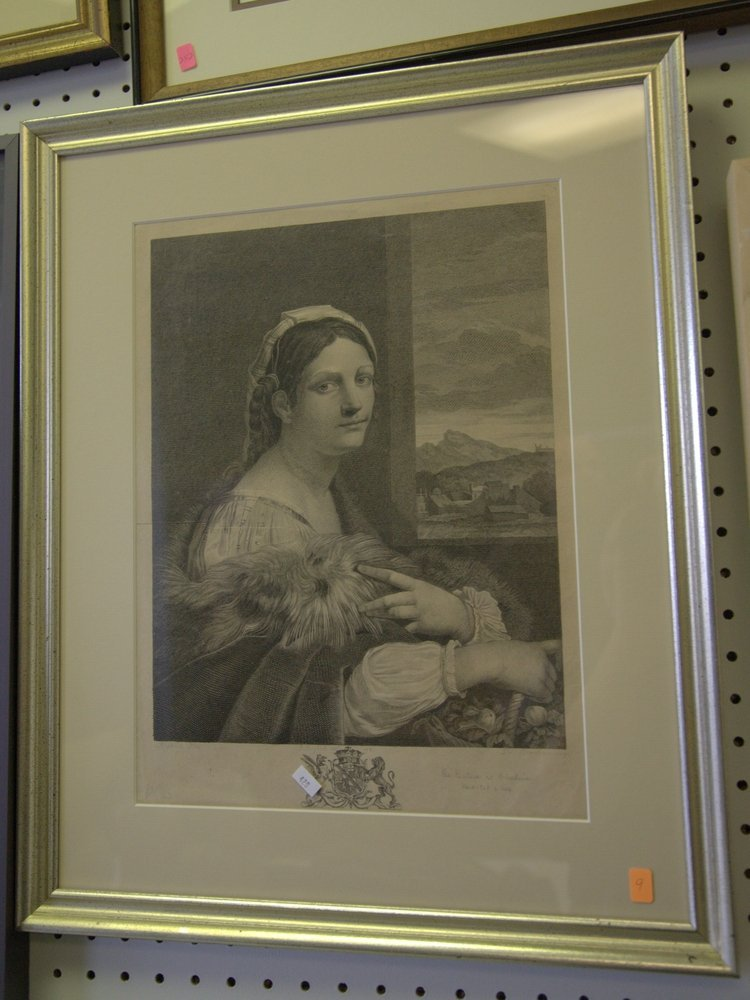 """The Picture at Bleuheim"" Early Framed Portrait"