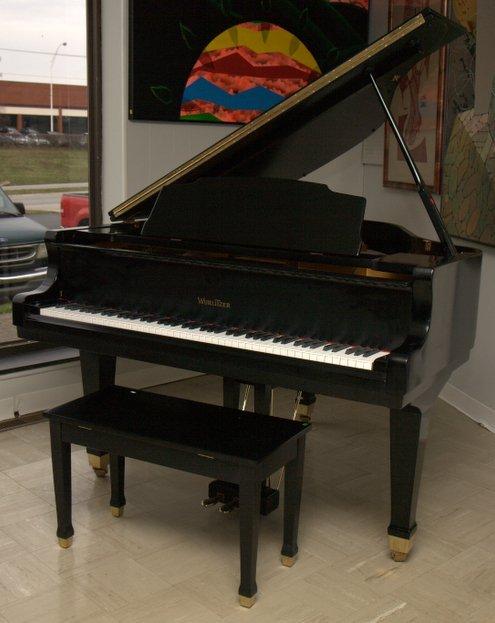 Wurlitzer Ebony Baby Grand Piano with Bench