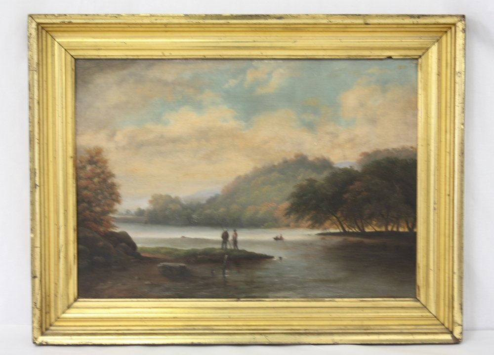 The Hudson Valley, Oil On Board
