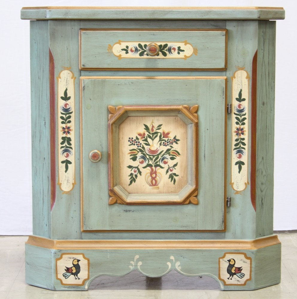 Austrian Decorated Corner Cabinet