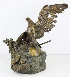 L'aigle Blesse (monument De Waterloo) by J.L. Gerome