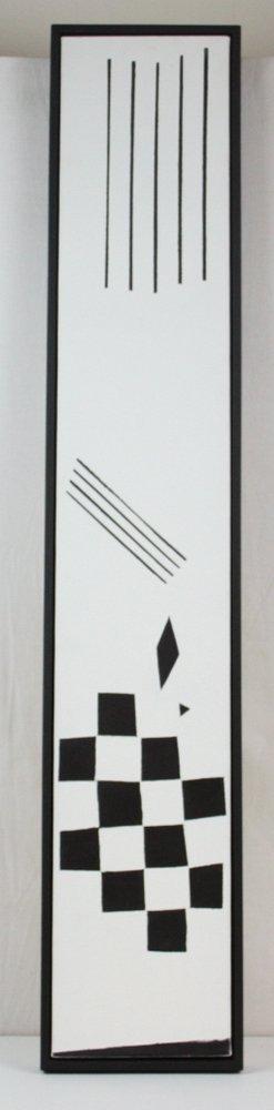 Original Black And White Oil On Canvas