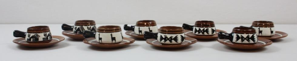 Red Clay Pottery Tea Set - 2