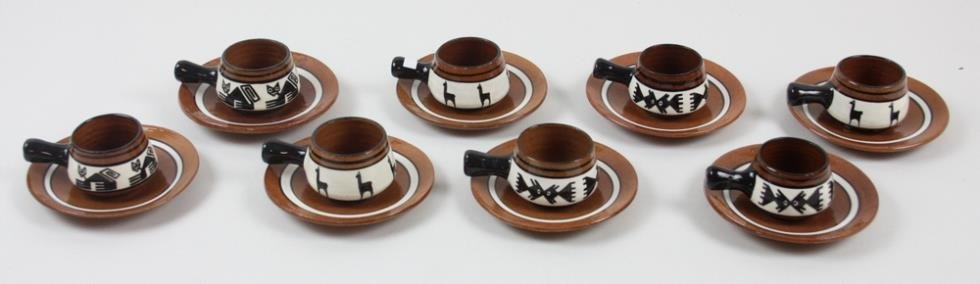 Red Clay Pottery Tea Set - 3