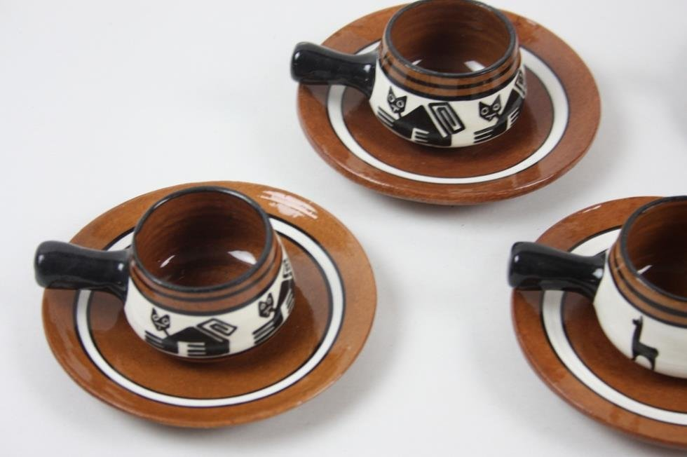 Red Clay Pottery Tea Set - 4