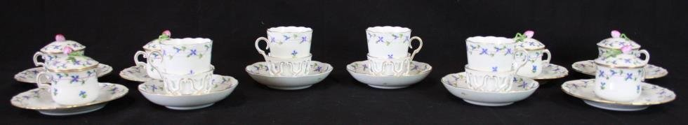 Collection Of Blue Garland Herend China