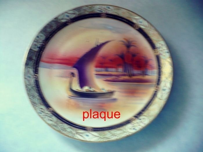Plaque, Egytian Boat Scene