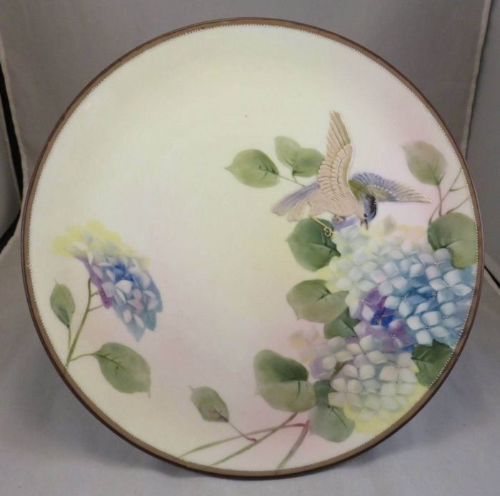 Antique Nippon Hanging Plaque with a Bird