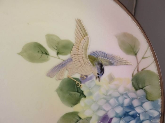 Antique Nippon Hanging Plaque with a Bird - 2