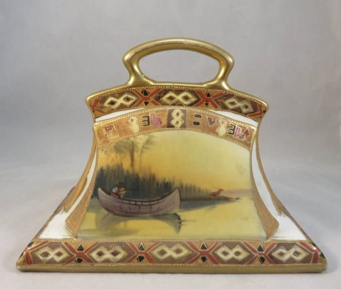 """Rare American Indian """"Coming to the Call"""" Letter Holder"""