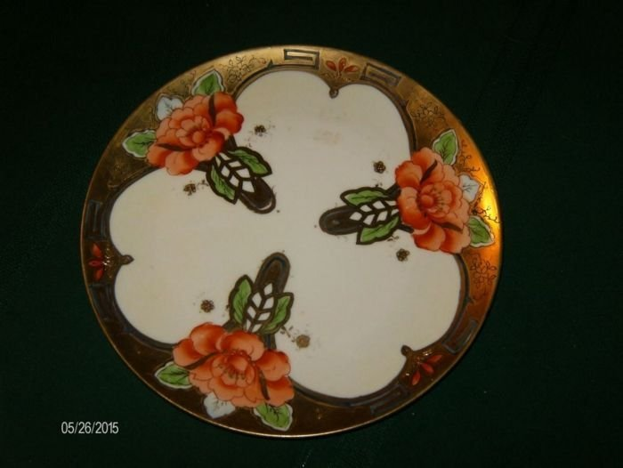 9 inch in diameter plate with a white background