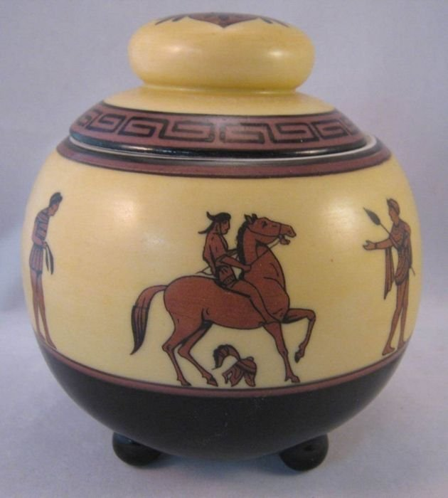 Scarce Antique Nippon Humidor with Roman Figures,
