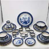 "Blue & White China Set ""Olde Willow"""