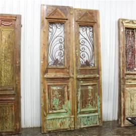 Vintage Door with Iron Panels #1