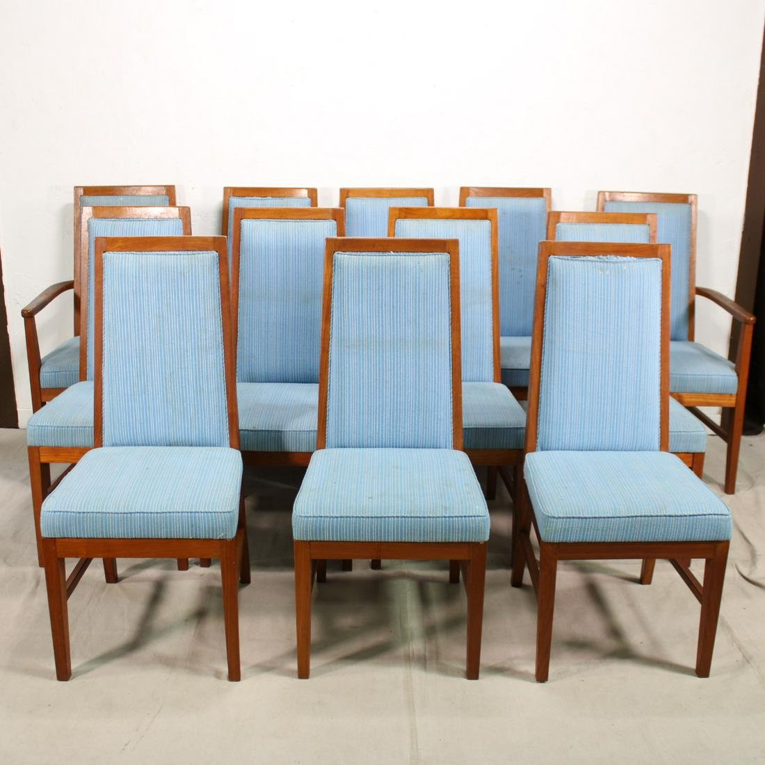Set of 12 Mid Century Modern Dining Chairs