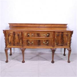 Carved Mahogany Sideboard on ball & claw legs