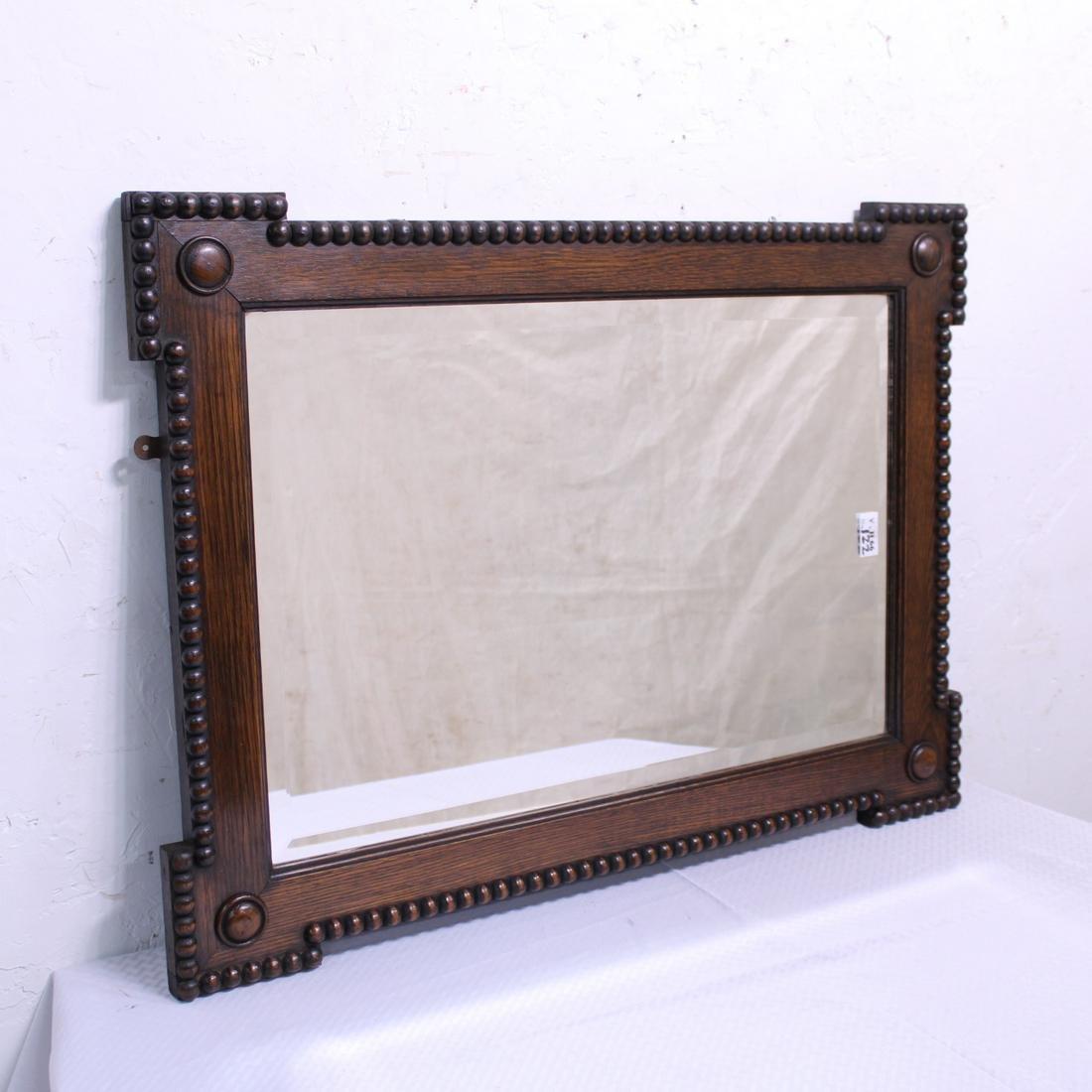 Oak Jacobean Style Rectangular Mirror