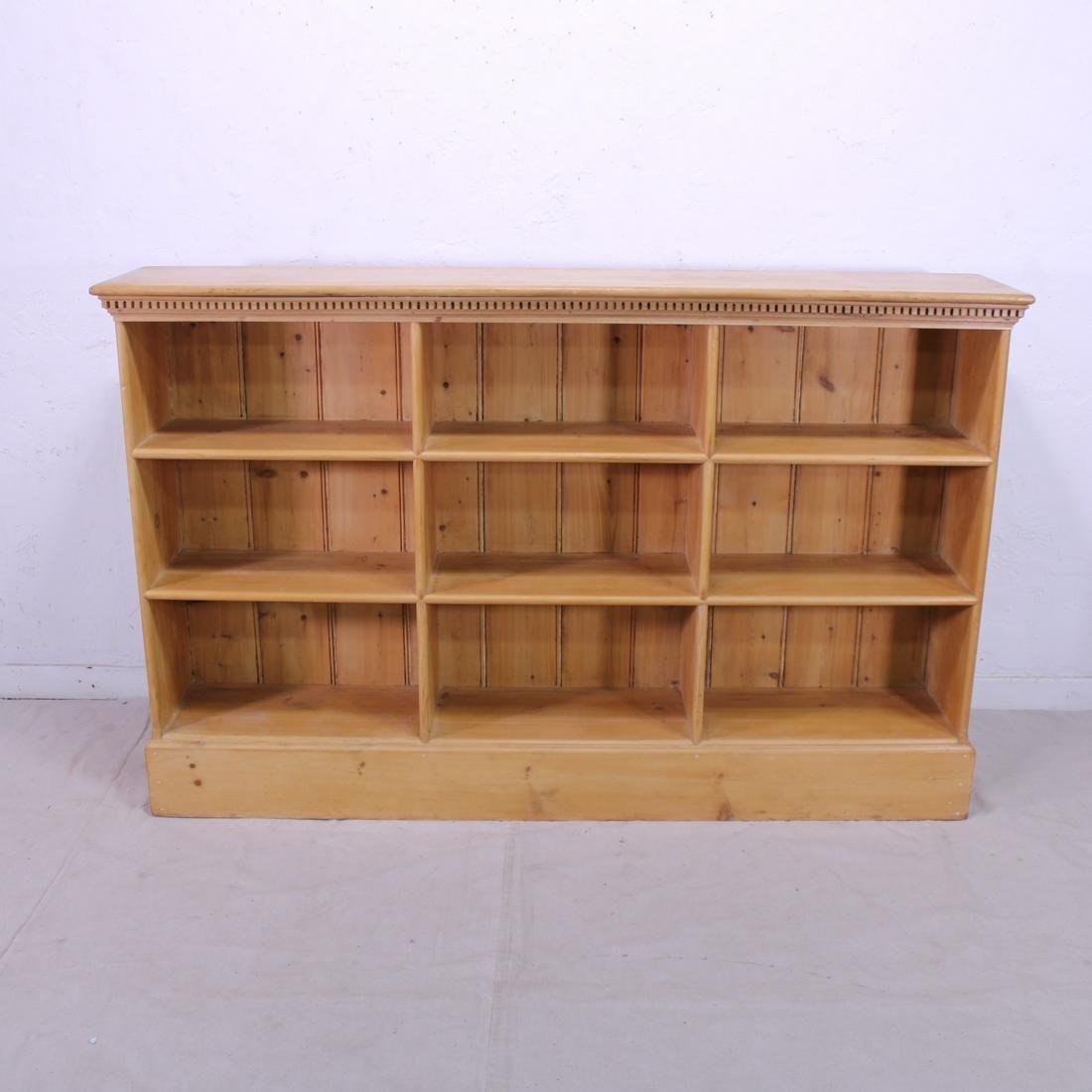 British Pine Open  Bookcase