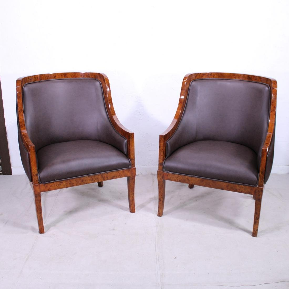 Pair of Empire Style Club Chairs