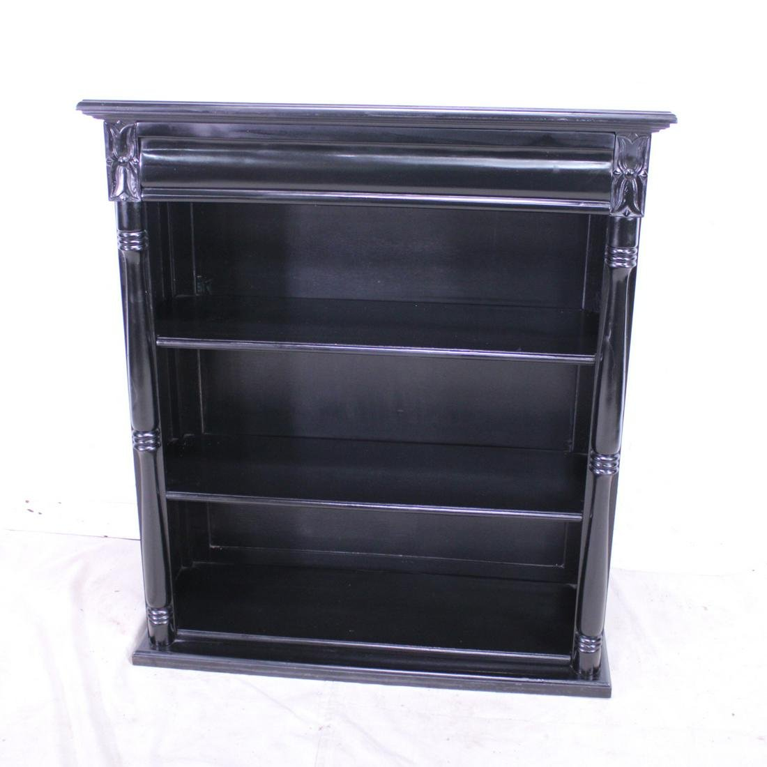 Black Painted Open Bookshelf #1