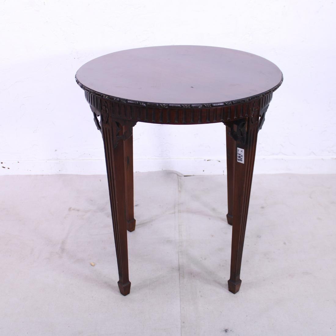 Tall Mahogany Side Table