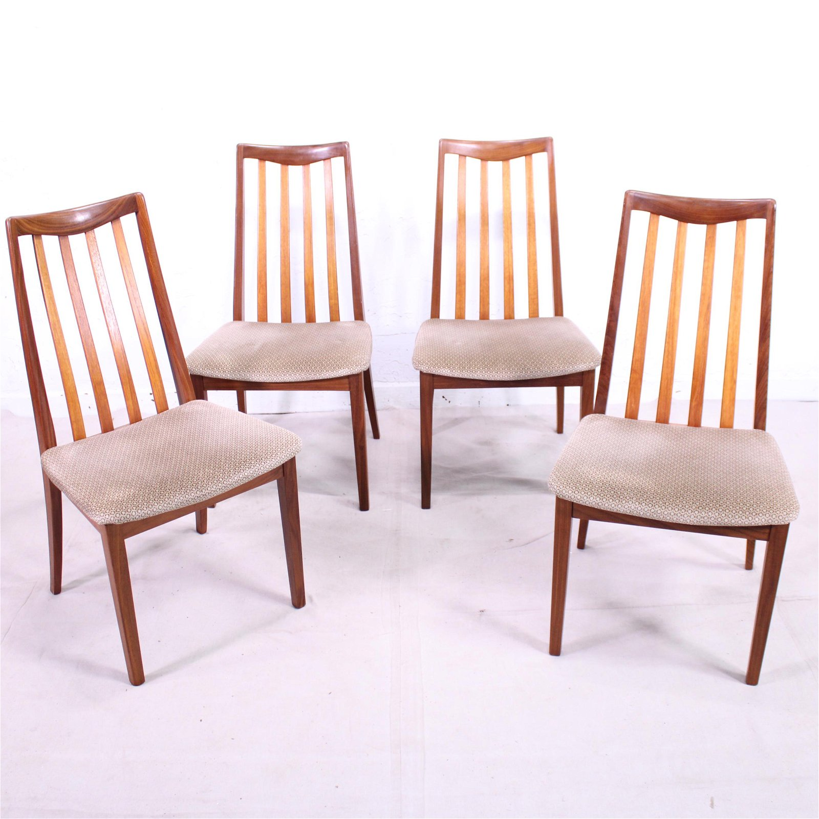 "4 Mid Century Modern ""Fresco"" Dining Chairs By G-Plan"