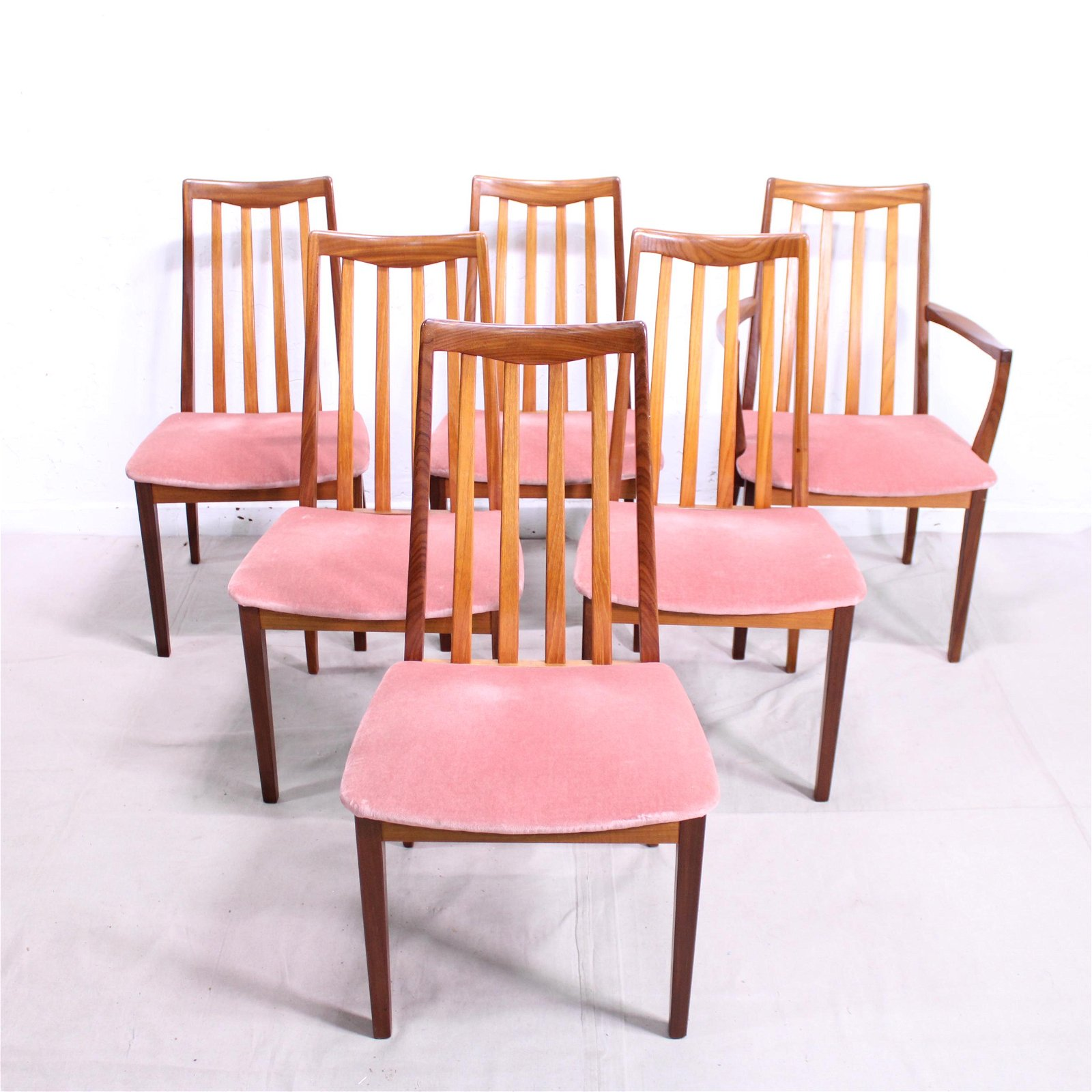 """6 Mid Century Modern """"Fresco"""" Dining Chairs By G-Plan"""