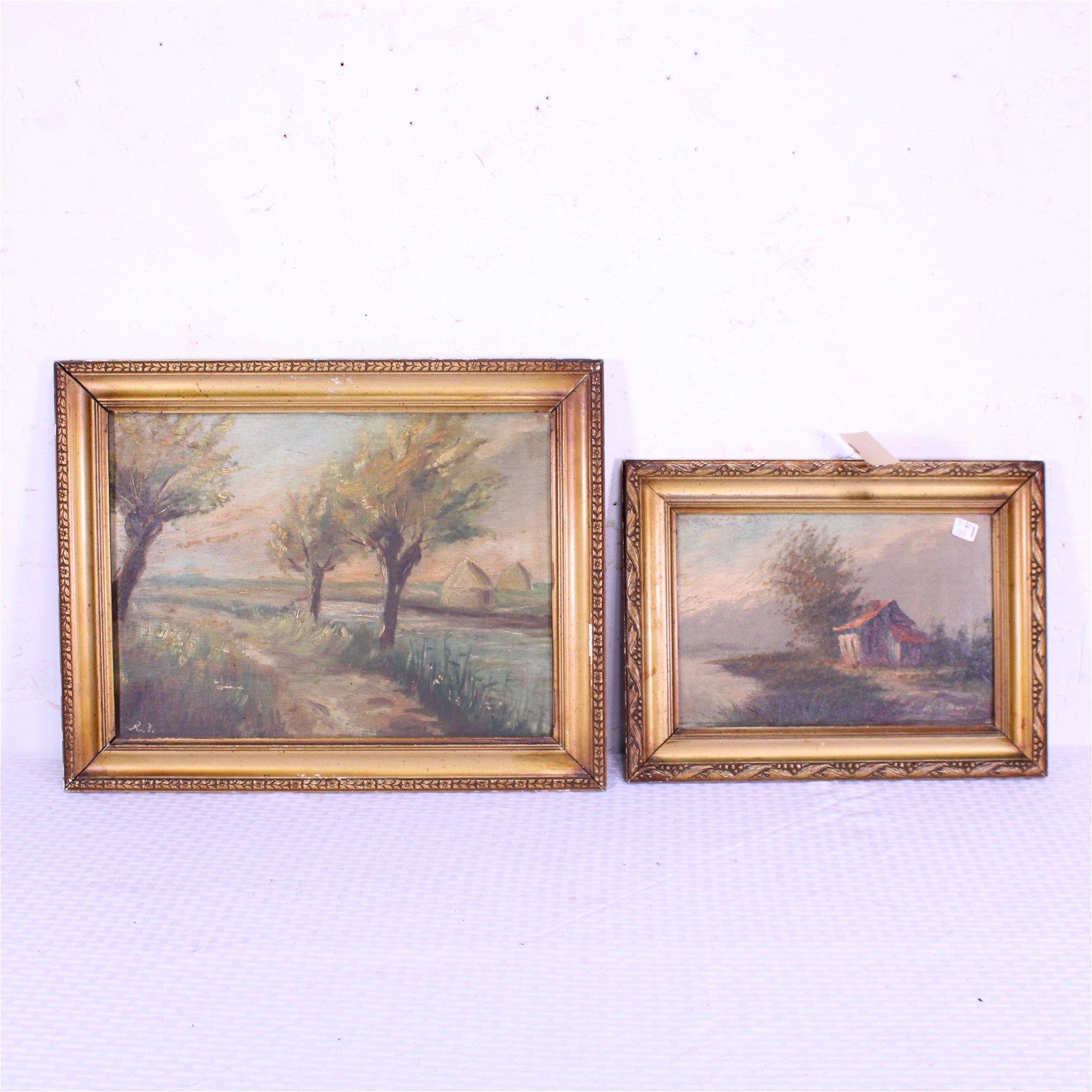 2 Framed Oil on Board - Landscapes