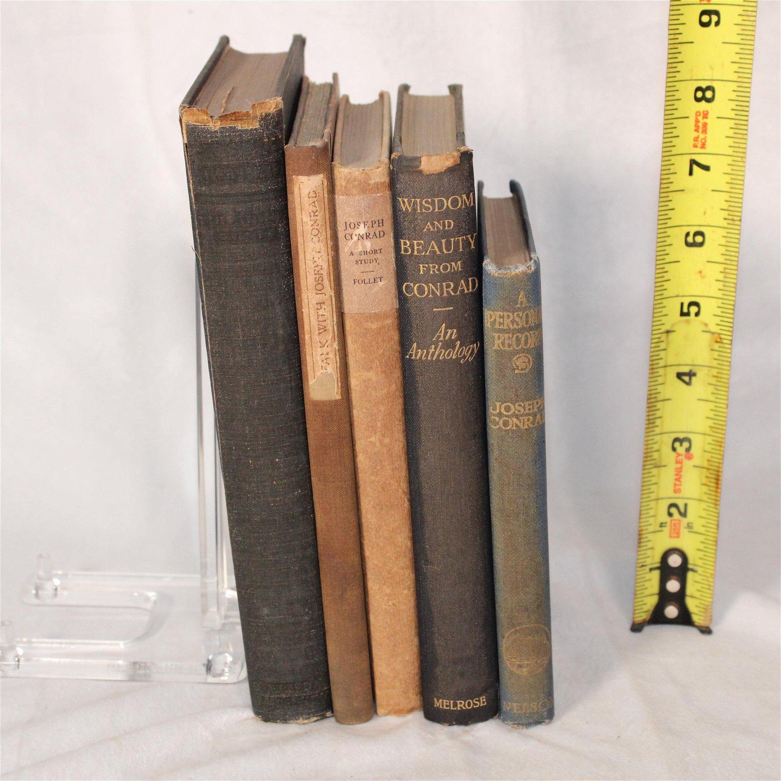 Lot of 5 volumes regarding Joseph Conrad