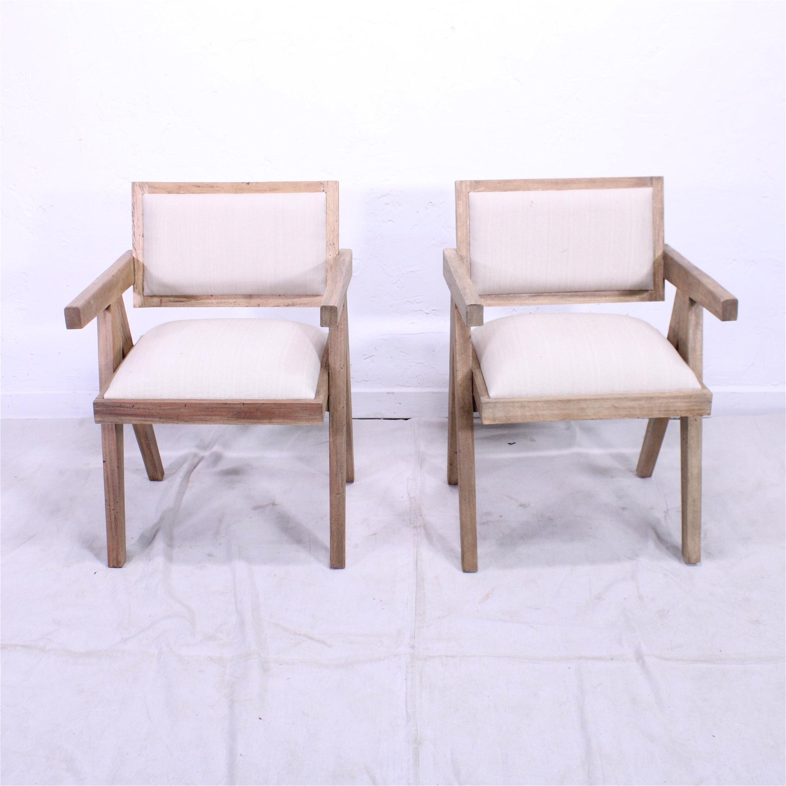 Arm Chairs in the manner of Pierre Jeanneret