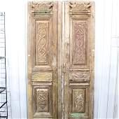 Pair of Carved European Doors