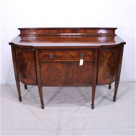 Mahogany  Curved Front Sideboard  - C 1800-1850