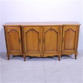 Country French Light Oak Sideboard - Parquet Top