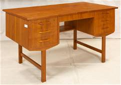 Scandinavian Mid Century Modern Teak Desk