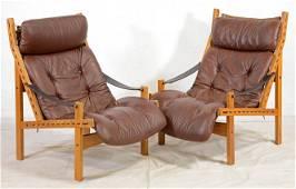 Pair Hunter Lounge Chairs - T. Afdal for Bruksbo #2